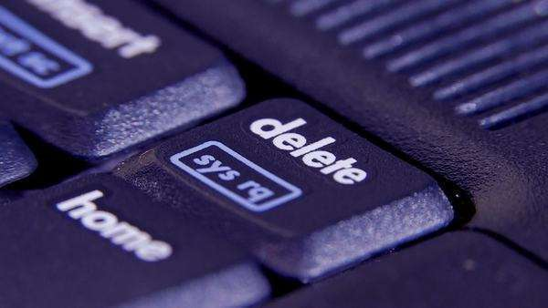 Laptop delete key, detail Royalty-free stock video