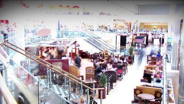 Shoppers in a busy city centre Royalty-free stock video