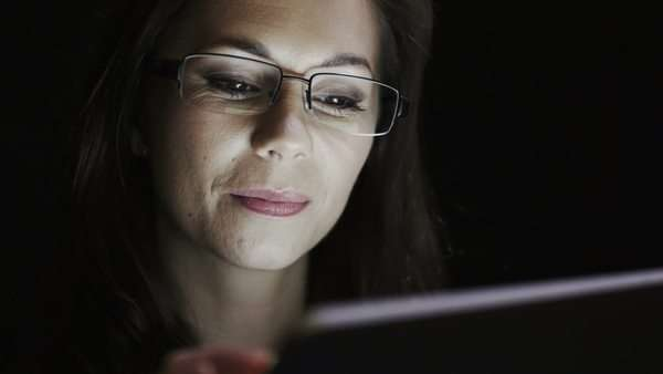 Woman with digital tablet handheld device Royalty-free stock video