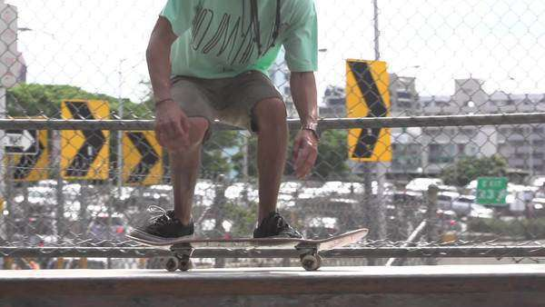 Slow motion of man performing a skateboard trick. Royalty-free stock video
