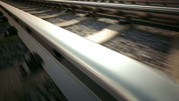 3D loopable animation of railroad track Royalty-free stock video