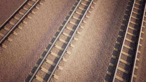 3D animation of ailroad track loopable animation Royalty-free stock video