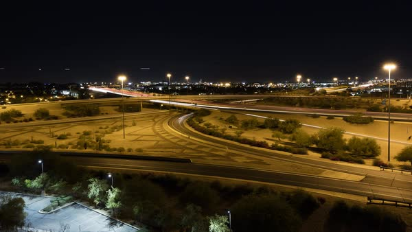Timelapse of a highway intersection in Phoenix. Royalty-free stock video