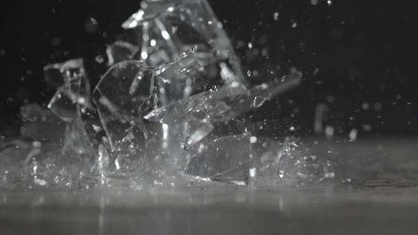 Slow motion shot of a vase shattering on the ground Royalty-free stock video