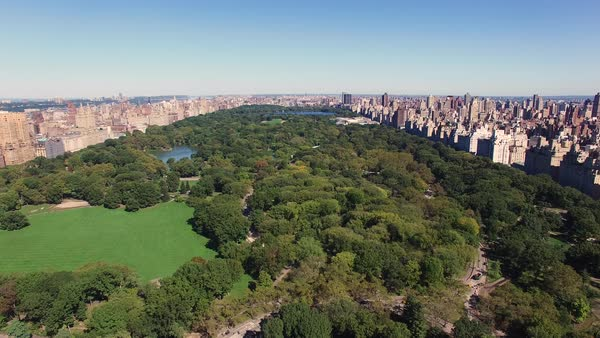 Aerial shot of Central Park Royalty-free stock video