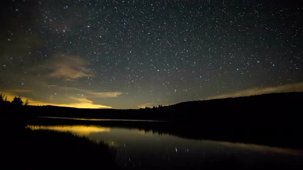 Time lapse of Lyman Lake at night with the Milky Way Royalty-free stock video