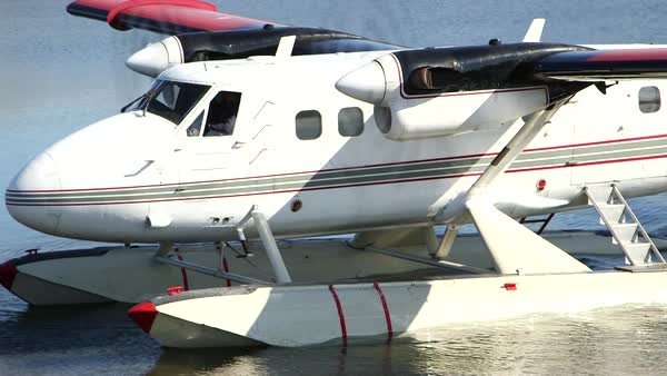 Medium shot of a seaplane in Nunavut, Canada Royalty-free stock video