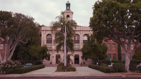 Locked-off shot of Hamilton High School in Los Angeles Rights-managed stock video