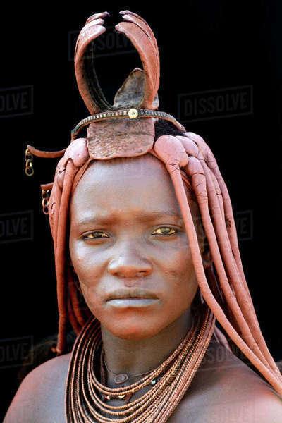 Himba women in village near Opuwo, Namibia Stock Photo - Alamy