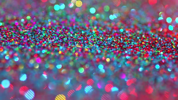 Sparkly Glitter Background In Bright Colors Stock Video