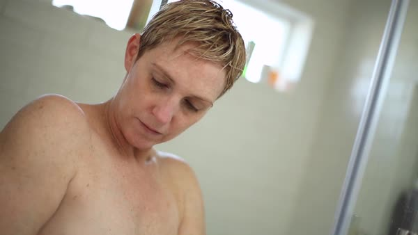 Mature in the shower