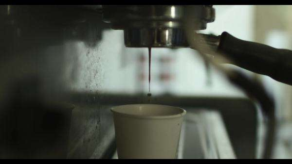 Close up of cup of coffee being made Royalty-free stock video