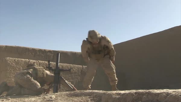 War in Afghanistan - Helmand Province_Quick Combat sequence stock footage