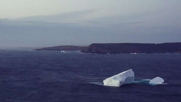 Iceberg off the coast  of St. John's, Newfoundland Royalty-free stock video