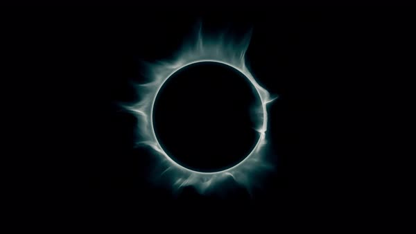 Ring of smoke. Perfect loop of a smoking misty ring. Royalty-free stock video
