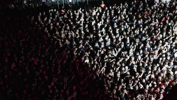 Wide-angle shot of the crowd at a concert Royalty-free stock video