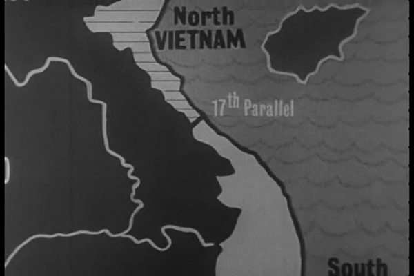 17th Parallel Vietnam Map.The Division Of Vietnam By The 17th Parallel In 1965 And Footage Of