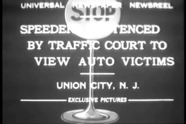 Speeding drivers are sentenced to visit car accident victims by the traffic  court in Union City, New Jersey  stock footage