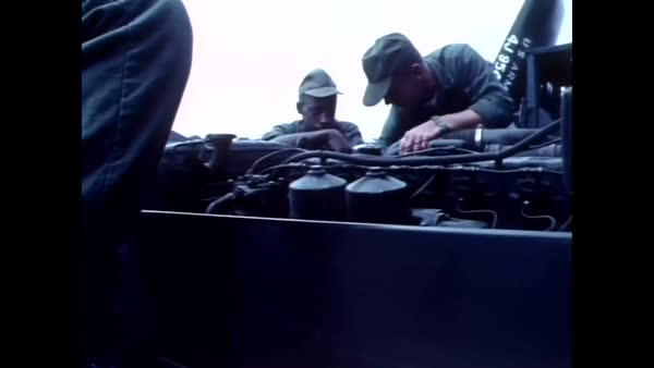 1971 - US Army trainee leaders learn how to operate combat support  vehicles  stock footage