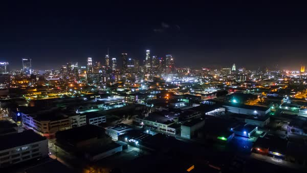 Hyperlapse of Los Angeles at night Royalty-free stock video