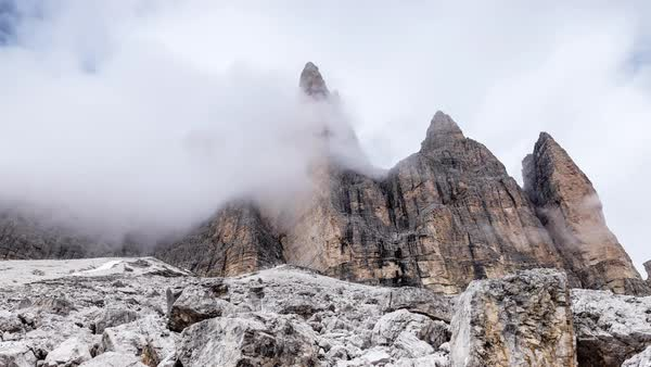 Timelapse shot of mountains in Alta Pusteria, Italy Royalty-free stock video