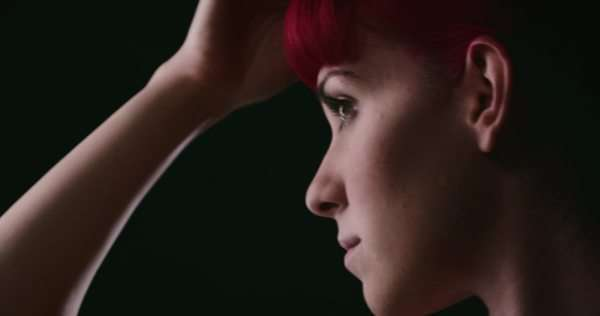 Handheld close up of a young woman getting ready Royalty-free stock video