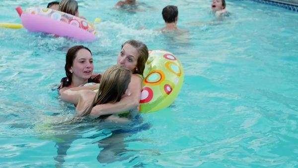 Portman teens in swimming