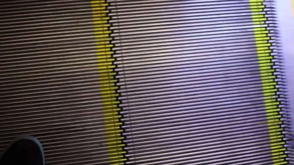 Close up shot of an escalator Royalty-free stock video
