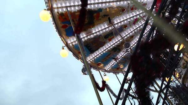 Medium shot of a rotating carousel Royalty-free stock video