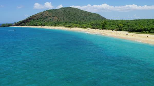 Aerial Pacific Coastline View Of Makena Beach State Park Maui D47 256 145