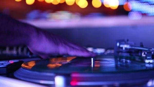 Handheld shot of a live DJ performance Royalty-free stock video