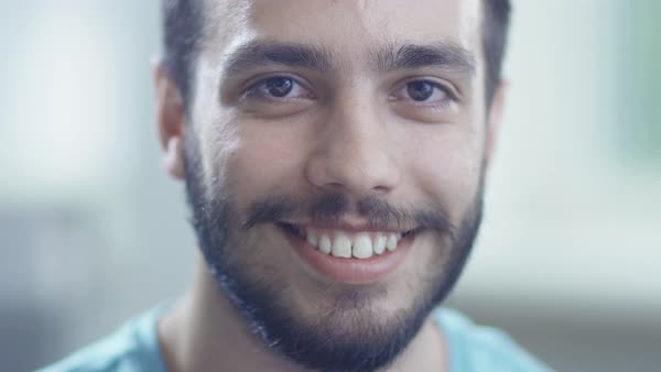 Portrait of smiling man Royalty-free stock video