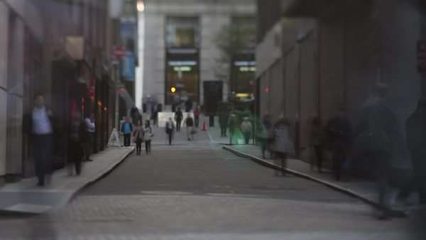 Timelapse wide shot of Busy street, New York City Royalty-free stock video