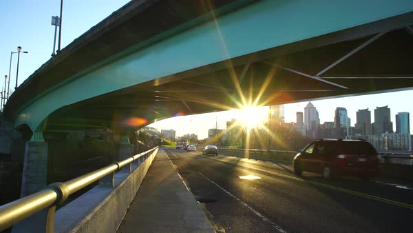 Overpass in Philadelphia Royalty-free stock video