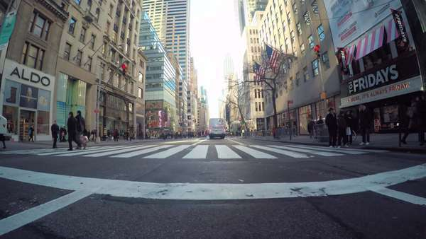 Point of view timelapse driving shot through Manhattan, NY Royalty-free stock video