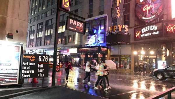 Times Square storm Royalty-free stock video