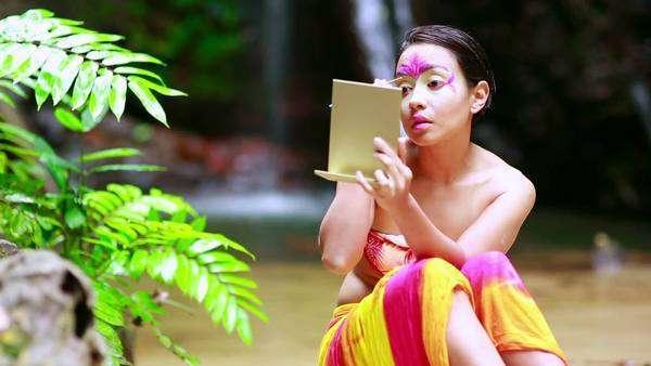 Borneo Rainforest Tribal Culture: Face Painting - Stock Video ...