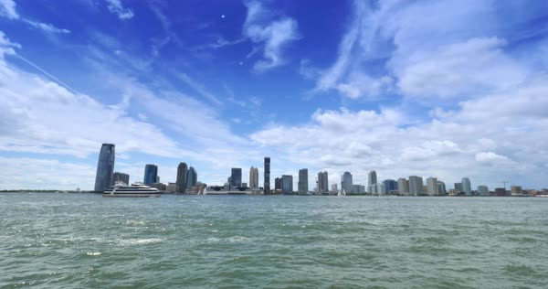 A view of the Jersey City skyline Royalty-free stock video