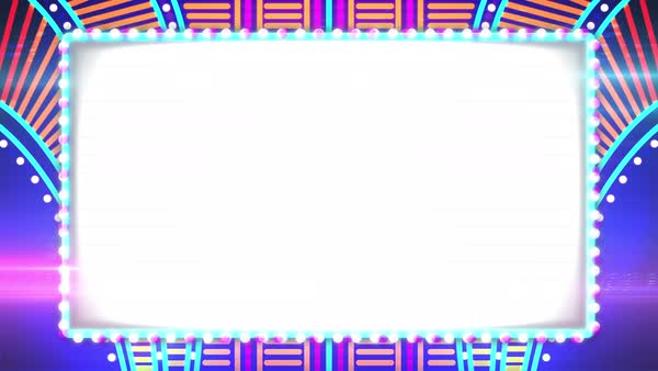 A Looping Abstract Flashing Casino Lights Animated Blank