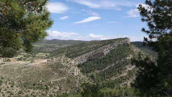 Tilted strata are revealed on a ridge in the remote Sierra de Gudar. Royalty-free stock video