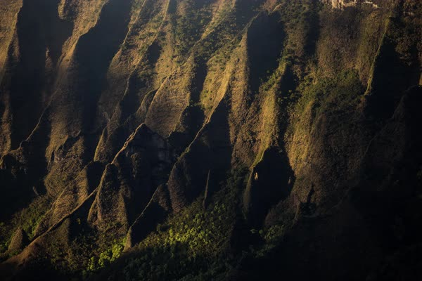 Kauai, Napali Coast abstract shadow moving timelapse. Rights-managed stock video