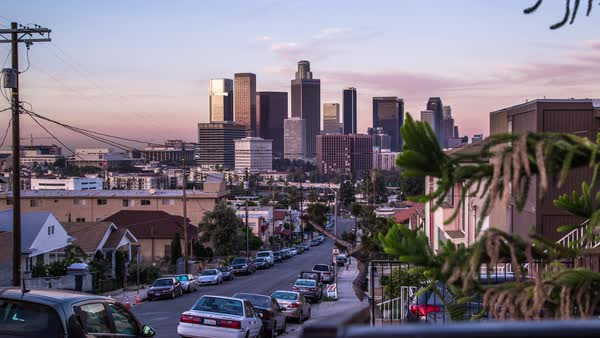 Timelapse shot of downtown Los Angeles Royalty-free stock video