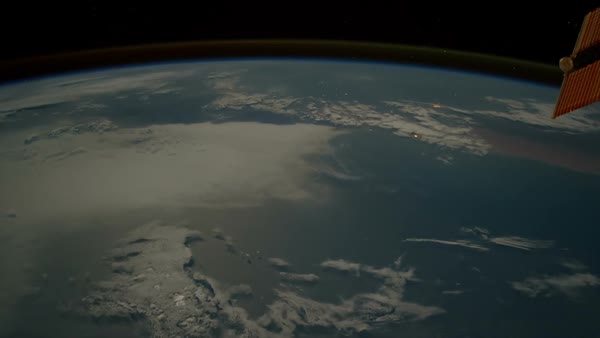 International Space Station - ISS - flyby over the South Atlantic Ocean to  Kazakhstan featuring Red Sea, Saudi Arabia and the Persian Gulf stock