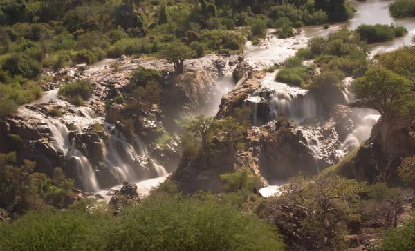 Timelapse of Epupa Falls during daytime Royalty-free stock video