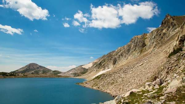 Timelapse of South Gap Lake within the Medicine Bow Mountains, Wyoming Royalty-free stock video