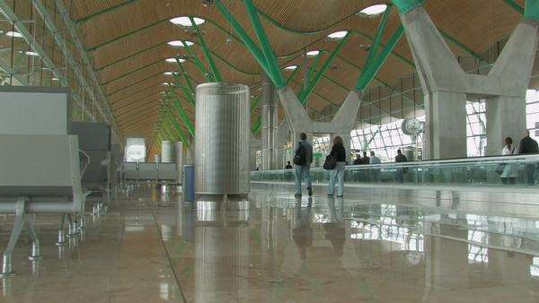 Madrid-Barajas airport interior Royalty-free stock video