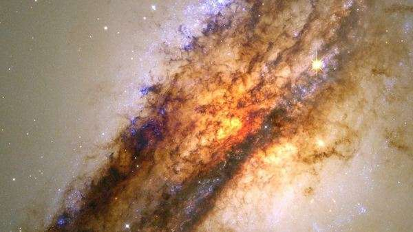 Centaurus A galaxy. Hubble Space Telescope (HST) Royalty-free stock video