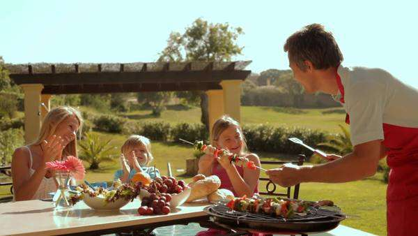 family barbecue Royalty-free stock video