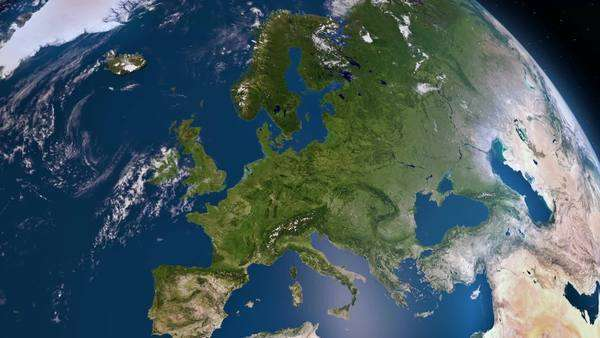 Earth view from space. Europe. Royalty-free stock video