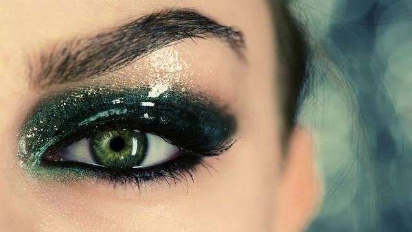 Close-up of a woman's green eye Royalty-free stock video